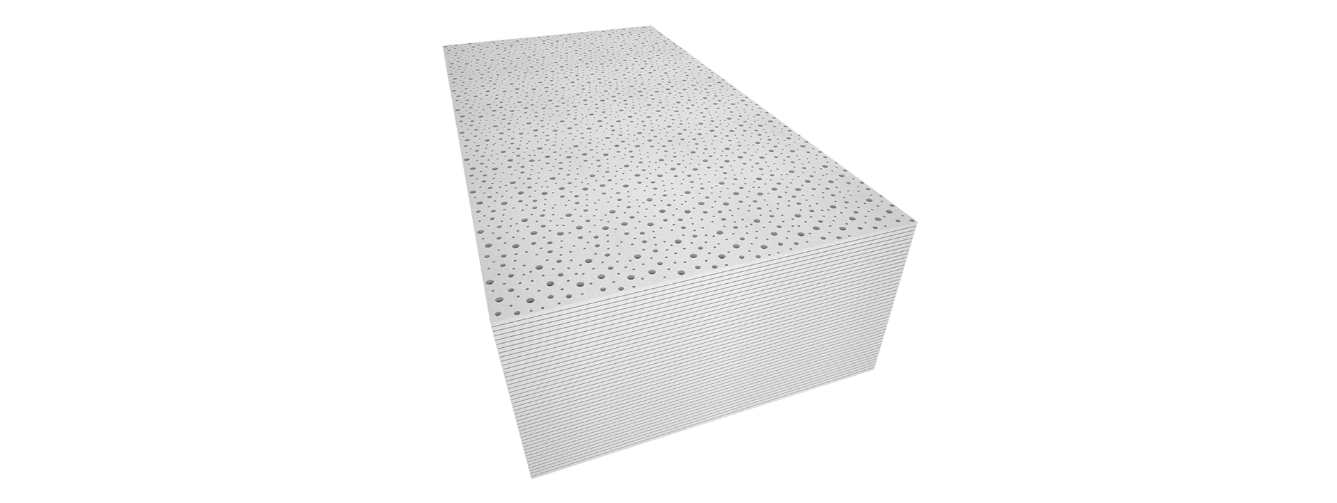 Perforated acoustic gypsum plaster board i trusus brand