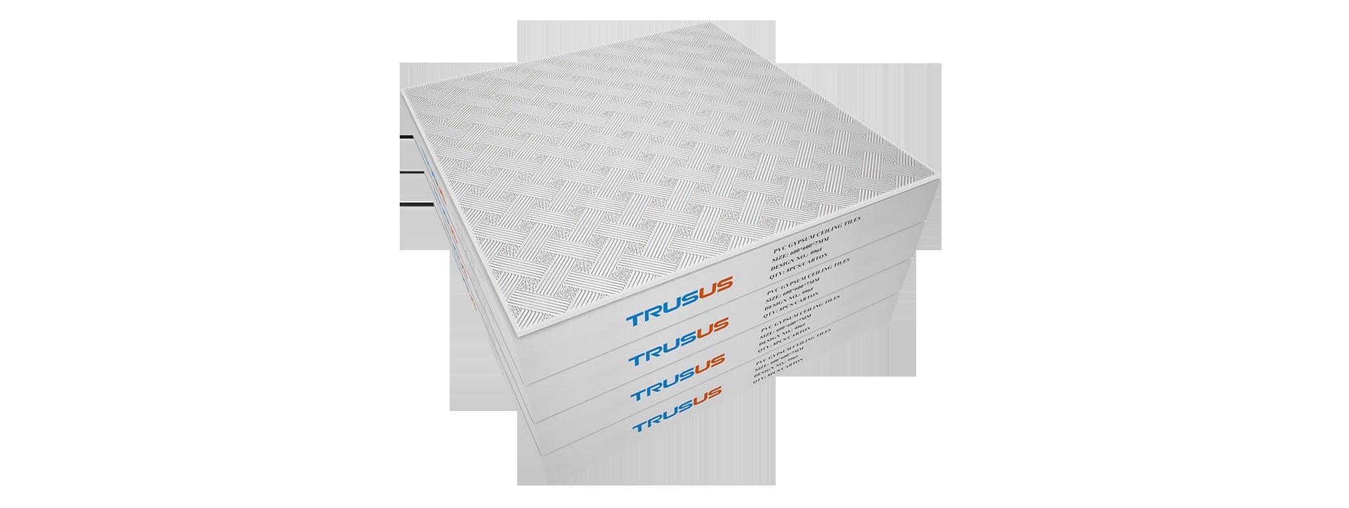 Pvc Laminated Gypsum Ceiling Tiles Manufacturers I Trusus Brand